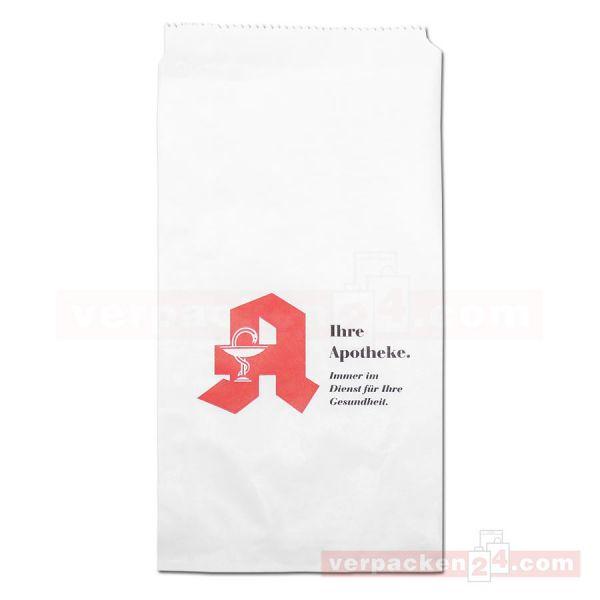 Arznei-Flachbeutel - Kraftpapier weiß - Apothekendruck
