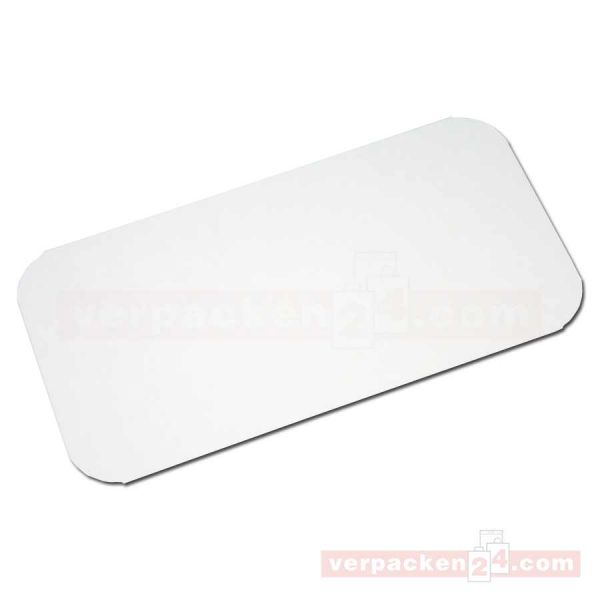 Deckel für Aluschalen, Karton alukasch. für Lasagne - 195x103 mm