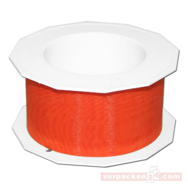 Schleifenband - Sheer - Rolle 25 m, 40 mm - orange