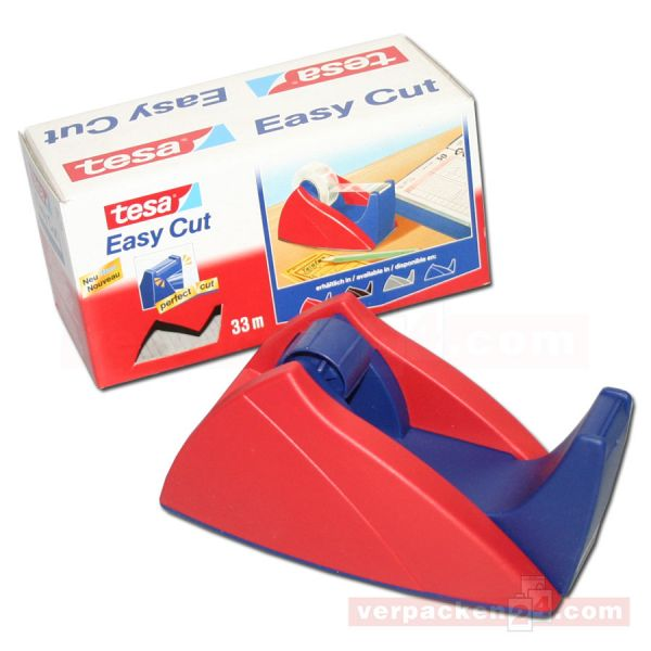 Tesa-Tischabroller, Kunststoff, rot - bis 33/19 mm
