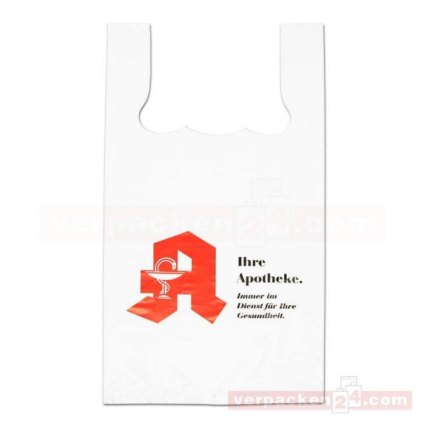 LDPE-Hemdchentaschen Apotheke, weiß, geblockt