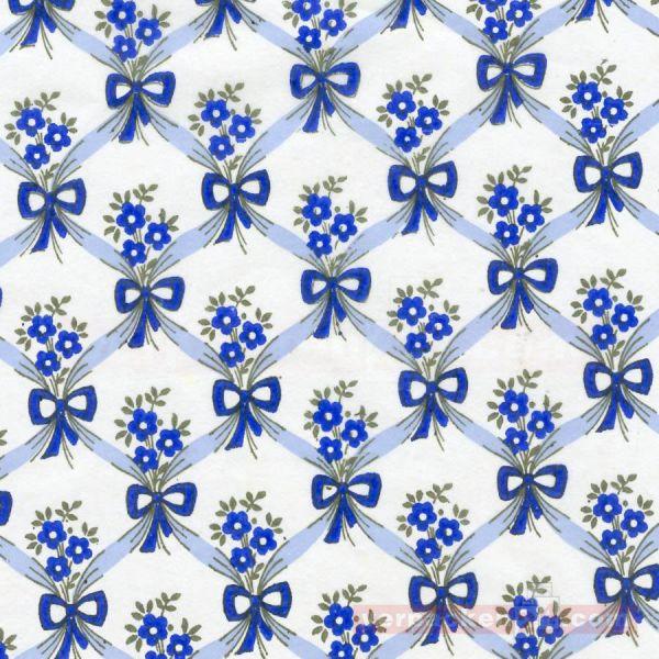 Flaschenseiden, 500 Bogen, Dessin - 37,5x 50 cm - Schleife blau