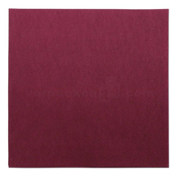 Tissue-Servietten farbig, 3-lagig, 40x40cm - 1/4 Falz - bordeaux