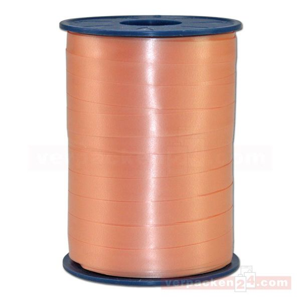 Glanzband auf Rolle 250 mtr., 9 mm - apricot (034)