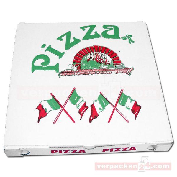 Pizzakarton, weiße Feinwelle neutral - 40x40+3cm