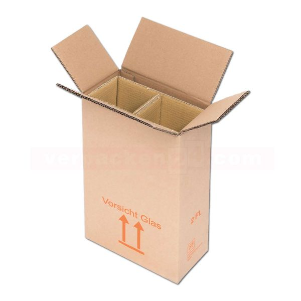 Flaschenversandkarton, 2 Flaschen - Versandverpackung PTZ