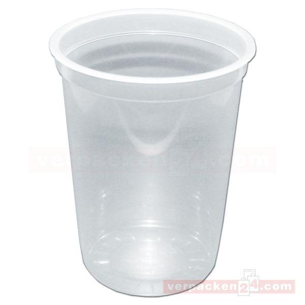 Ananasbecher - Becher - transparent, rund - 1.000 ccm