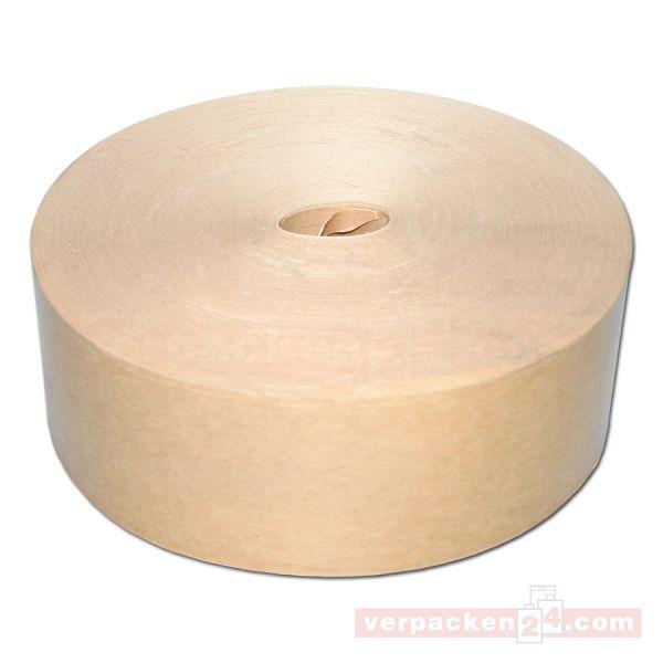Natron-Klebeband, braun 60 g, nassklebend - 60 mm