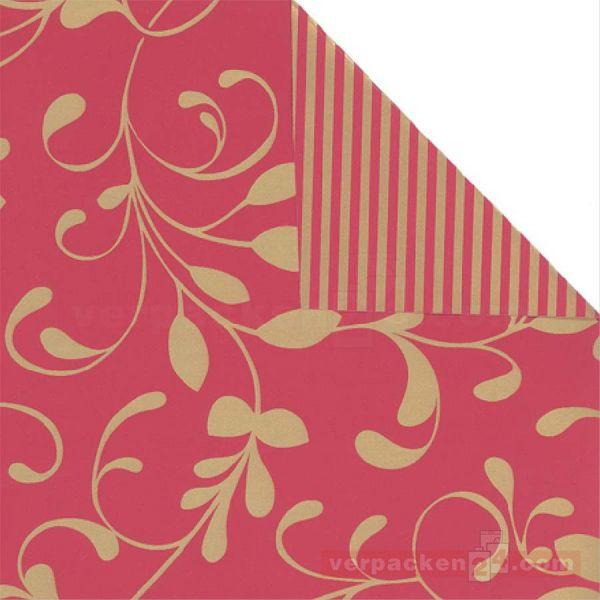 Weihnachts Geschenkpapier St 979791, Rolle 50 cm - Ranke bordeau