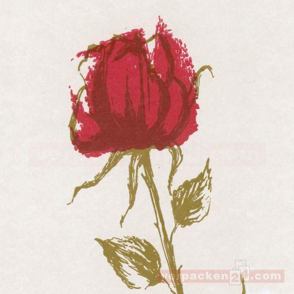 Blumenseiden, weiß 28/30 g - Rosendessin - Rolle - 75 cm