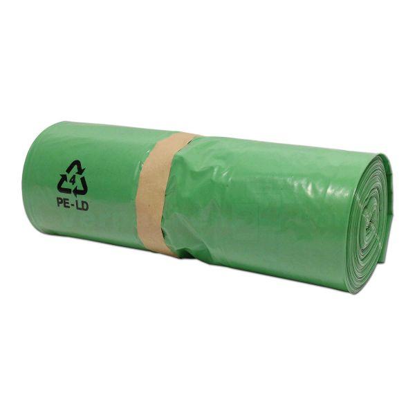 LDPE-Seitenfaltensäcke, grün - 51+36x128 cm - 50µ - Rolle