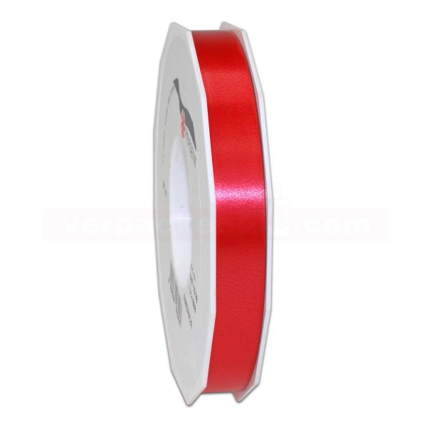 Glanzband auf Rolle 091 mtr., 15 mm - rot (609)