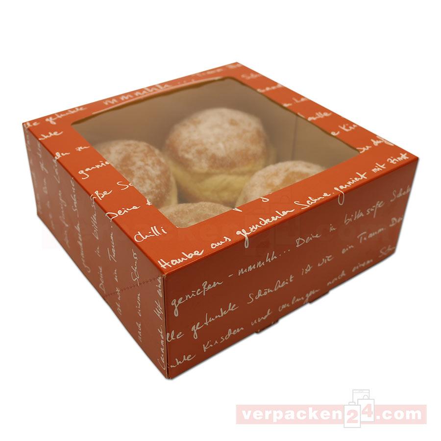 Tortenkarton mit sichtfenster mmmhh 19x19x8cm for Fenster 80 x 90
