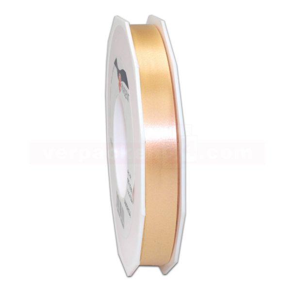 Glanzband auf Rolle 091 mtr., 15 mm - hellgold (134)