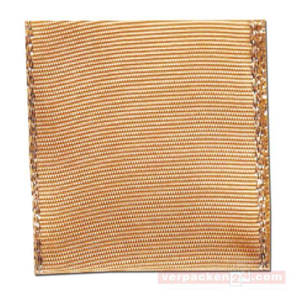 Schleifenband Manhatten Weihnachten 40 mm - gold - Drahtkante