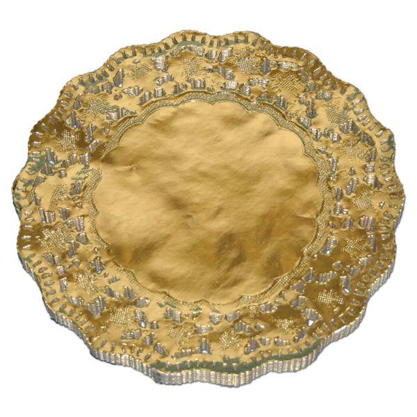 Tortenspitzen gold, mit Qualitätsspitzen - rund