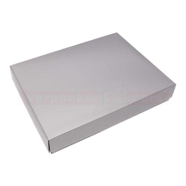 Textilkarton Hemden silber - DECKEL - 377x286x055mm