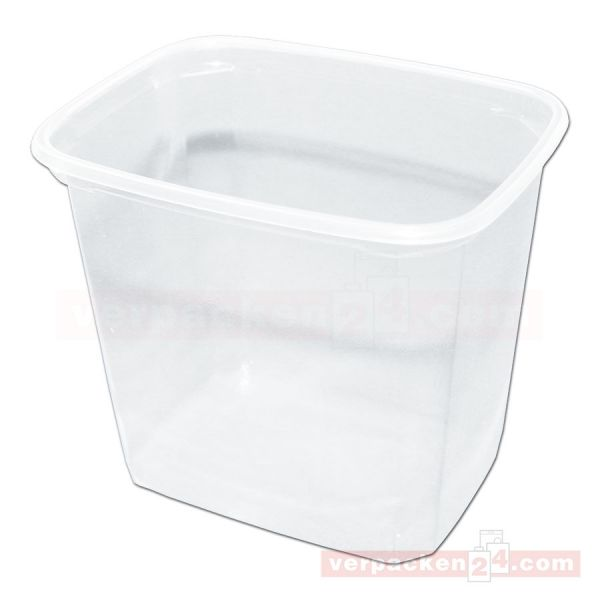 Feinkostbecher NP eckig - Becher 221 - Polystyrol transparent