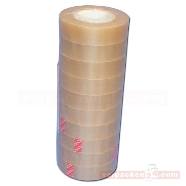 Tesafilm (PVC), transparent, klar, Rolle 33 m - 15 mm