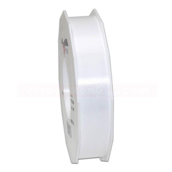 Glanzband auf Rolle 091 mtr., 25 mm - weiß (600)