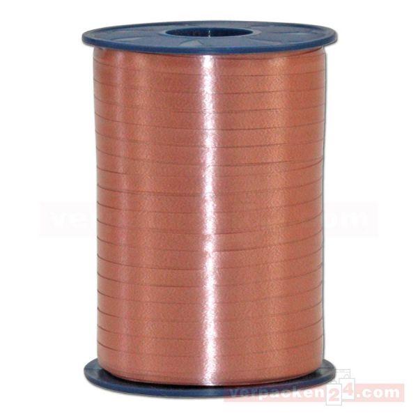 Glanzband auf Rolle 500 mtr., 5 mm - hellbraun (623)