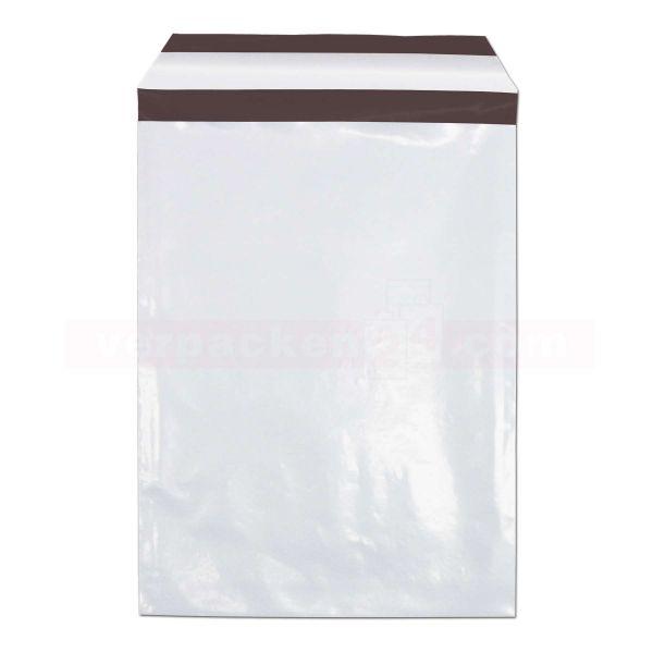 Versandbeutel Plastik weiß - WebShopBags - Sicherheitsverschluss