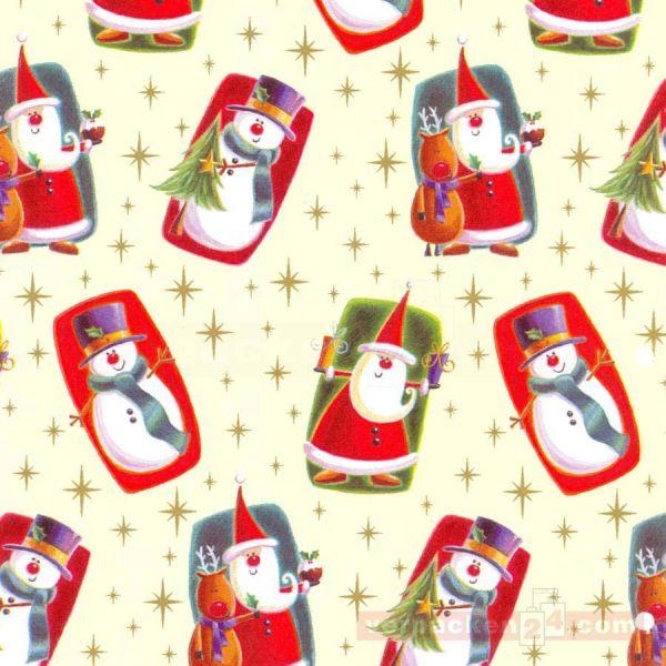 Weihnachts Geschenkpapier E 4498, Rolle 50 cm
