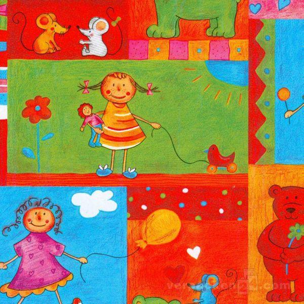 Geschenkpapier Kinder, neutral W 30628, Rolle 50 cm