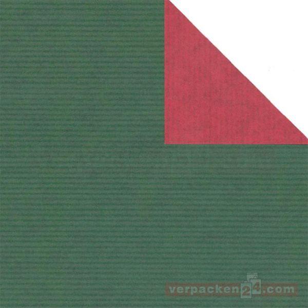 Weihnachts Geschenkpapier St 36150, Rolle 50 cm - dunkelgrün/rot