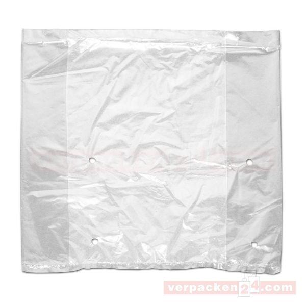 LDPE-Faltenbeutel, transp., gelocht - 29+09x29 cm - 30 µ