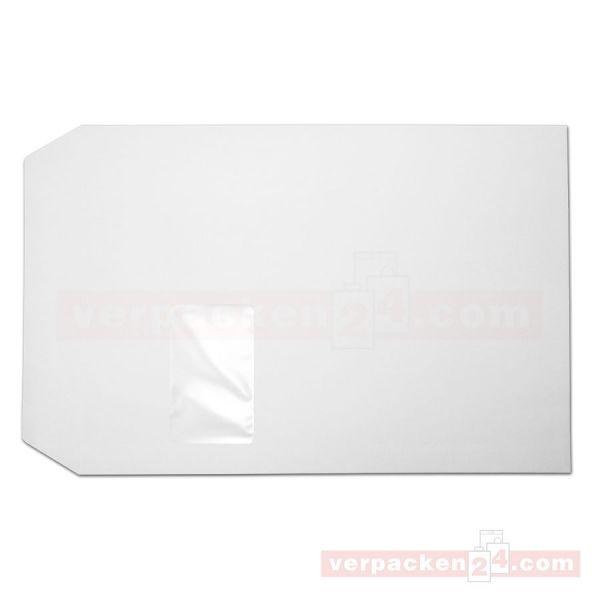 Versandtaschen weiß, SKL - mit Fenster - C4 - 229x324 mm