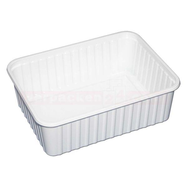 Salatschale NP eckig - Becher - Polystyrol weiß - 1000 g