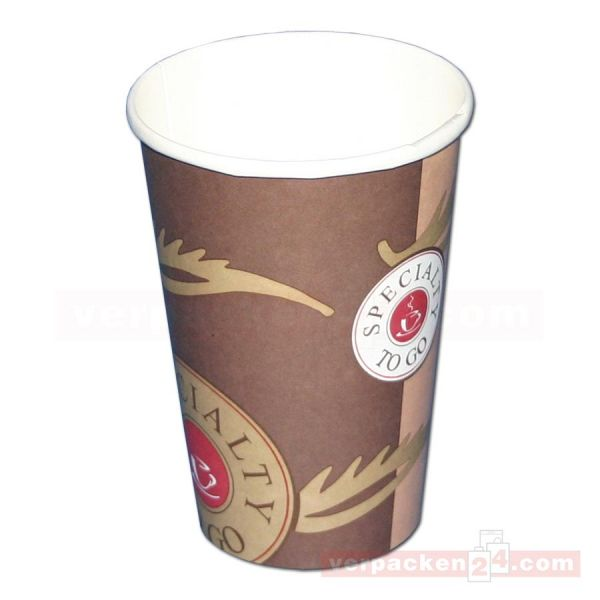 Ausschankbecher Hartpapier - Coffee to Go (CTG) neutral, 400 ccm