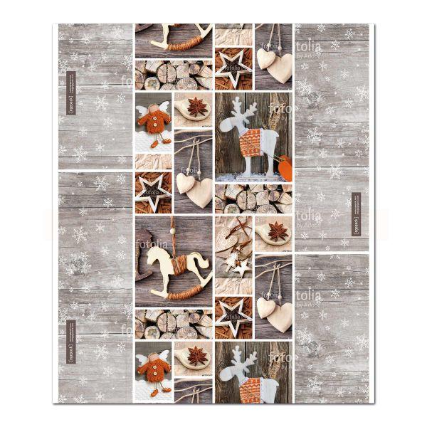 Einschlagpapier, weiß Kraft, Vintage Stars - 50 cm