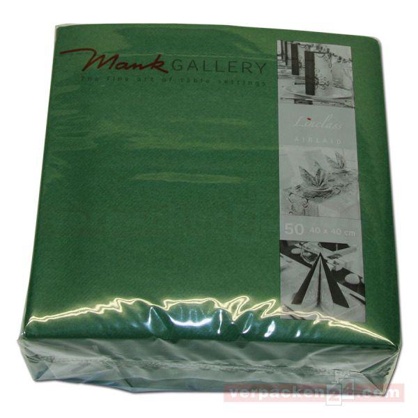 Servietten aus Airlaid farbig, 40x40 cm - 1/4 Falz - dunkelgrün