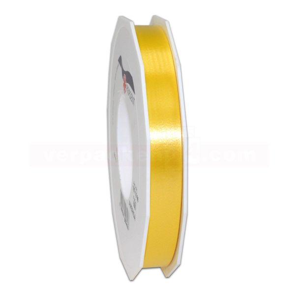 Glanzband auf Rolle 091 mtr., 15 mm - goldgelb (605)