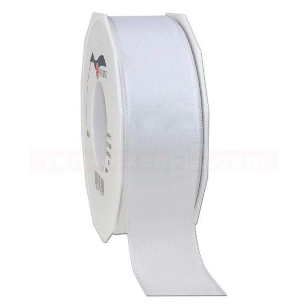 Seidenband - Europa - Rolle 50 m, 40 mm - weiß (601)