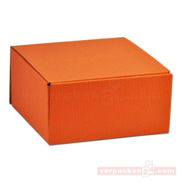 Geschenkkartons - Allround Orange - offene Welle