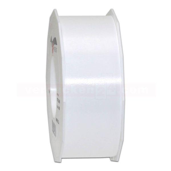 Glanzband auf Rolle 091 mtr., 40 mm - weiß (600)