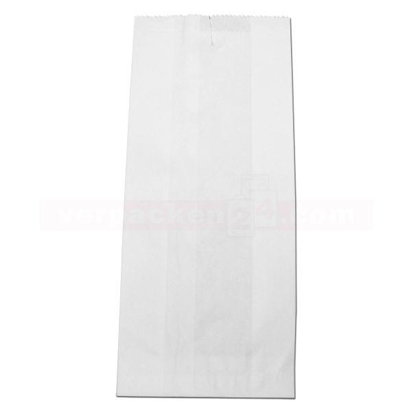 Pergament-Ersatz (PE) Faltenbeutel, weiß ohne Druck