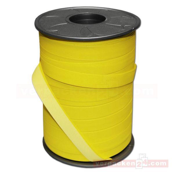 Geschenkband auf Rolle - BICOLOUR 200 mtr., 10 mm - hgelb/gelb