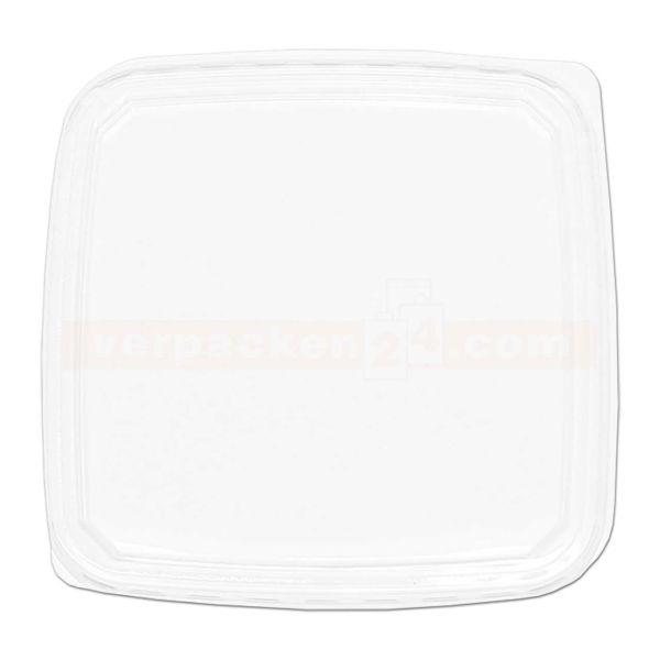 Heimchendose eckig - Deckel - Polyethylen klar - 114x114mm