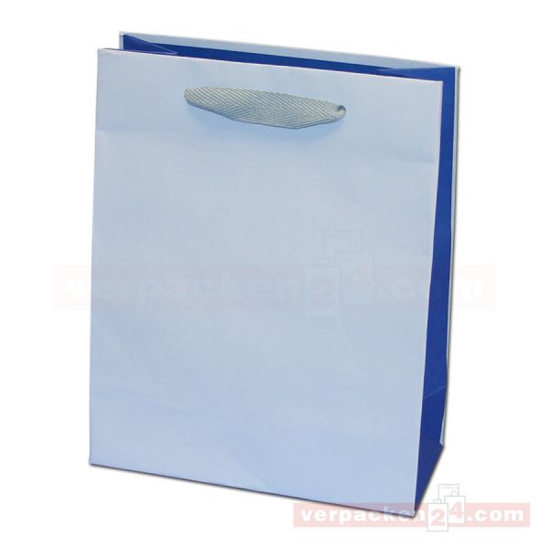 Papiertragetasche Regensburg BICOLOR - hellblau + blau