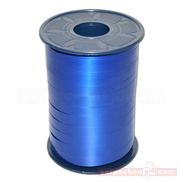 Glanzband - Lucky - lackiert Rolle 250m, 10 mm - blau (614)
