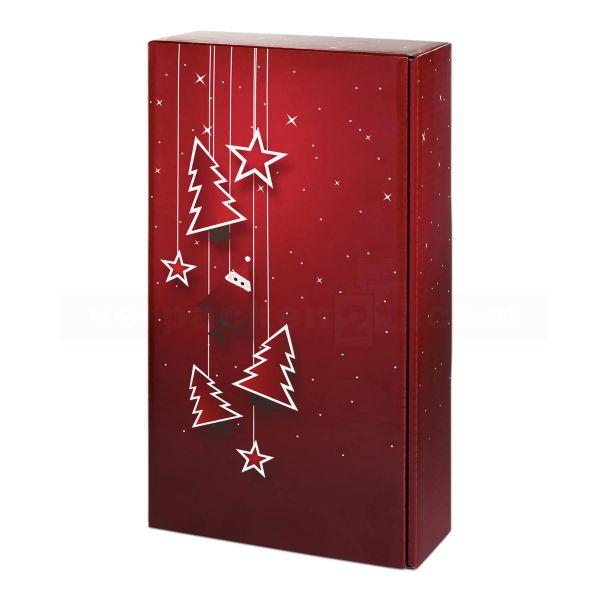 Wein-Flaschenverpackung, Santa - Präsentkarton FSC®