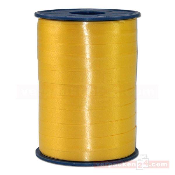 Glanzband auf Rolle 250 mtr., 9 mm - goldgelb (605)