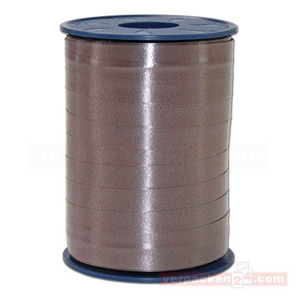 Glanzband auf Rolle 250 mtr., 9 mm - dunkelbraun (523)