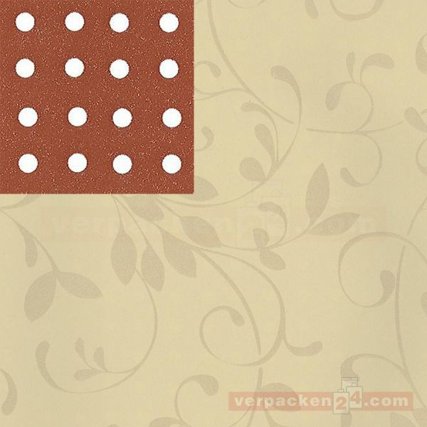 Geschenkpapier, neutral St 913063, Rolle 50 cm - Ranke creme