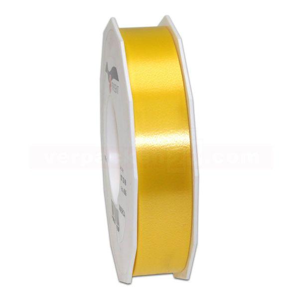 Glanzband auf Rolle 091 mtr., 25 mm - gelb (605)