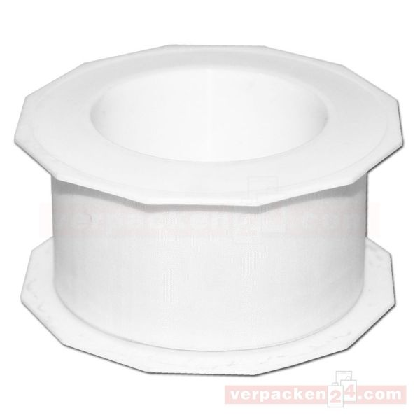 Schleifenband - Sheer - Rolle 25 m, 40 mm - weiß